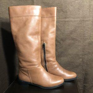 J Jill Tall Golden Tan Leather Boots Size 9